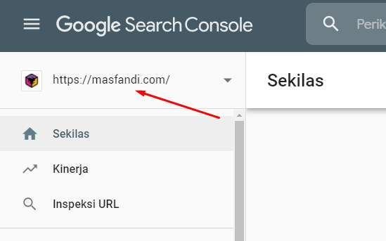 Situs Terdaftar Google Search Console