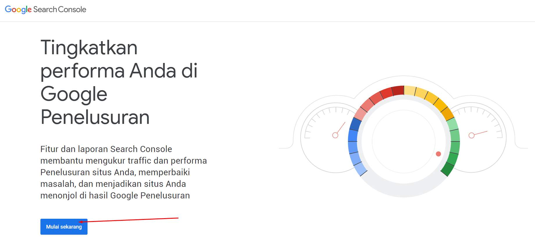 Tampilan Google Search Console